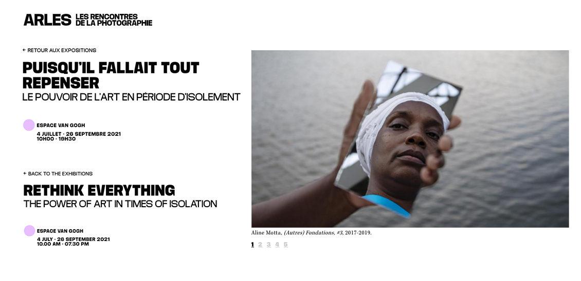 PENSAR TODO DE NUEVO | Les Rencontres de la Photographie de Arles 2021